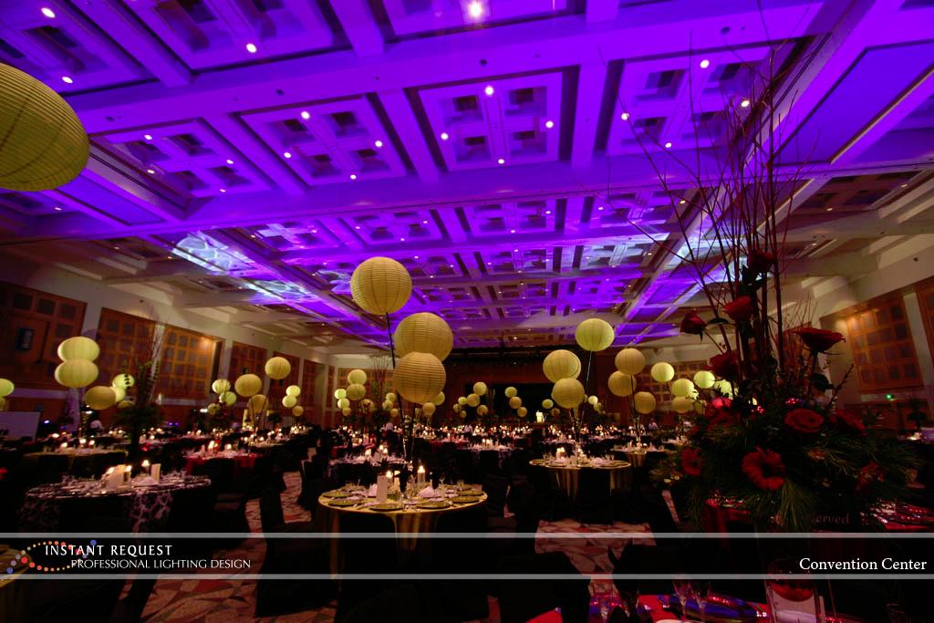Wedding led uplighting at Minneapolis Convention Center 3