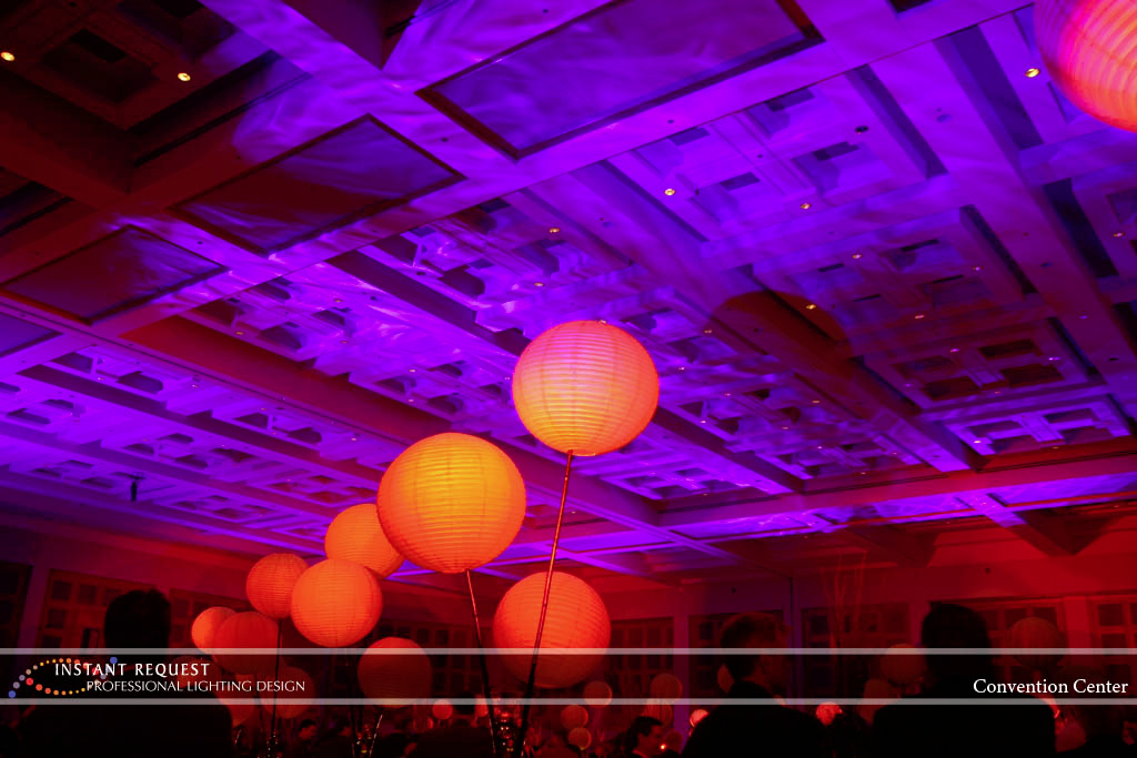 Wedding led uplighting at Minneapolis Convention Center 4