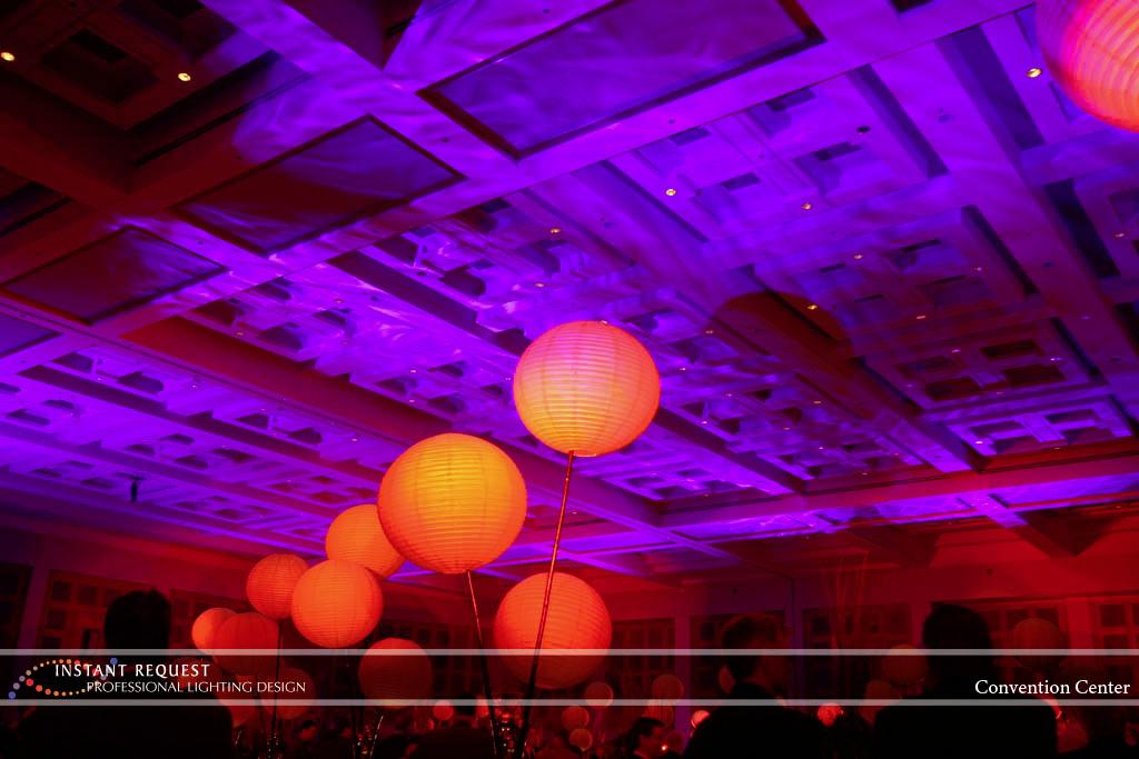 Wedding led uplighting at Minneapolis Convention Center 4
