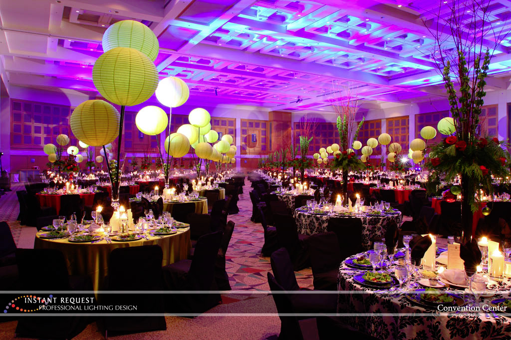 Wedding led uplighting at Minneapolis Convention Center 5