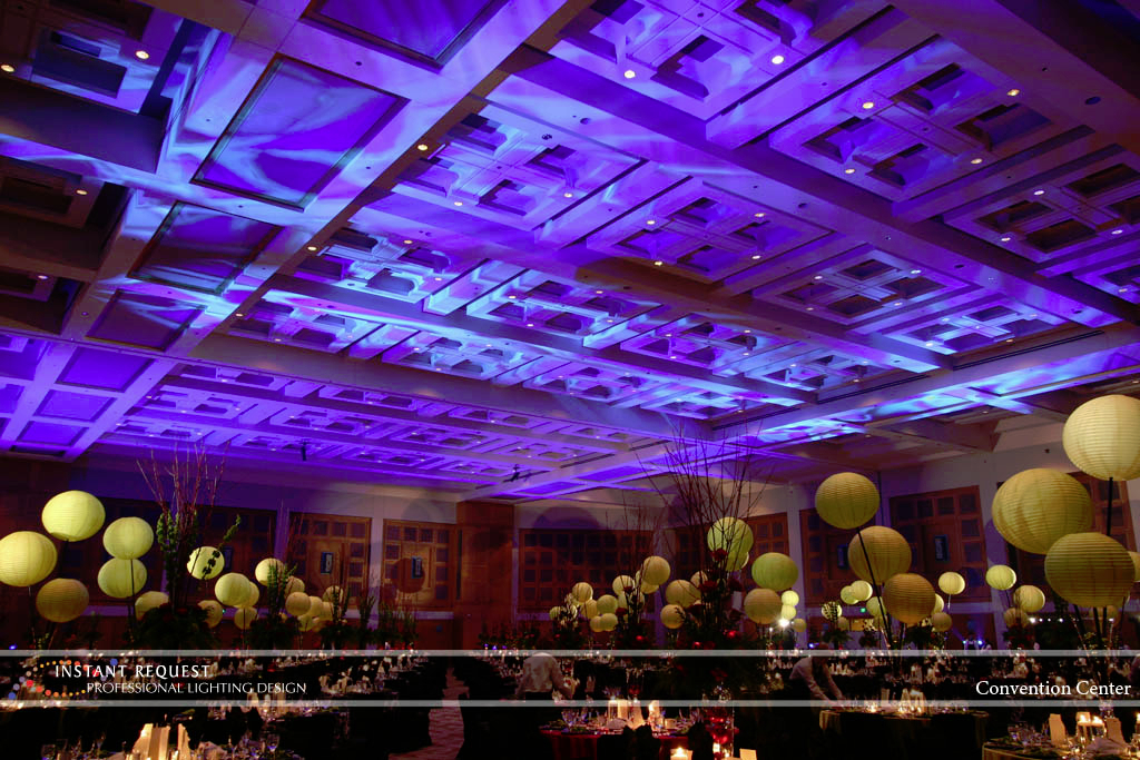 Wedding led uplighting at Minneapolis Convention Center 8