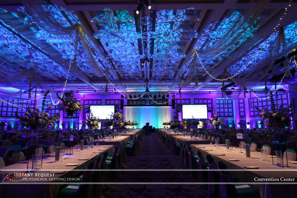 Wedding led uplighting at Minneapolis Convention Center 9