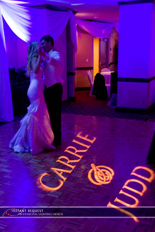 Wedding led uplighting at Crowne Plaza Northstar 2