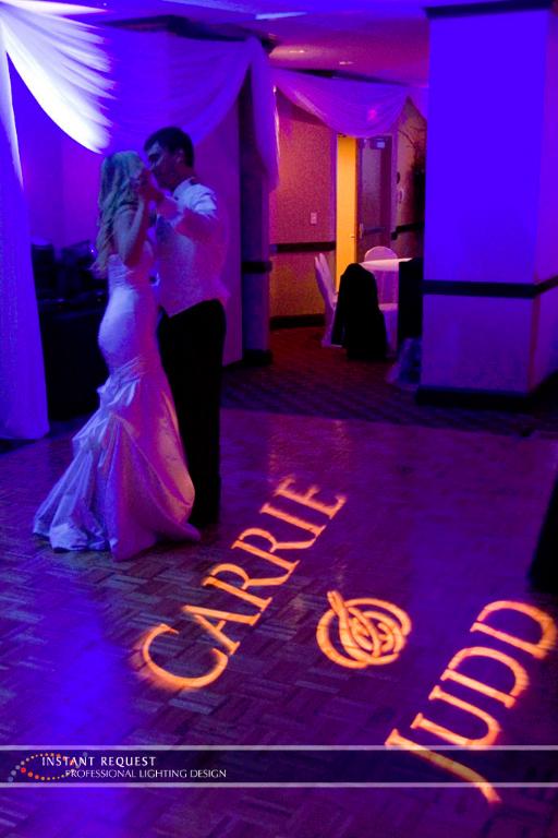 Wedding led uplighting at Crowne Plaza Northstar 2