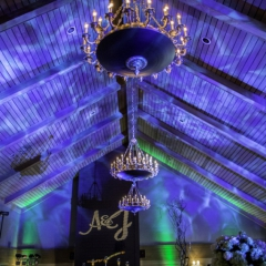 Wedding Uplighting at Dellwood Hills 10