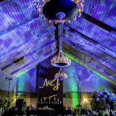 Wedding Uplighting at Dellwood Hills 14