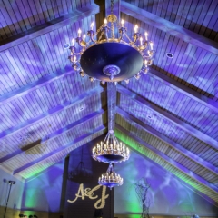 Wedding Uplighting at Dellwood Hills 15