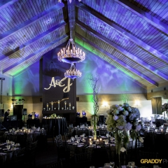 Wedding Uplighting at Dellwood Hills 16