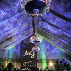 Wedding Uplighting at Dellwood Hills 2