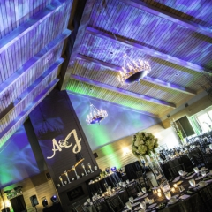 Wedding Uplighting at Dellwood Hills 3