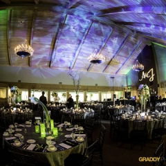 Wedding Uplighting at Dellwood Hills 32