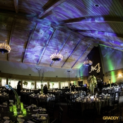 Wedding Uplighting at Dellwood Hills 34