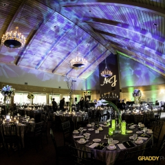 Wedding Uplighting at Dellwood Hills 35