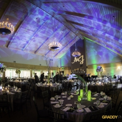 Wedding Uplighting at Dellwood Hills 6