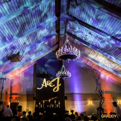Wedding Uplighting at Dellwood Hills 7