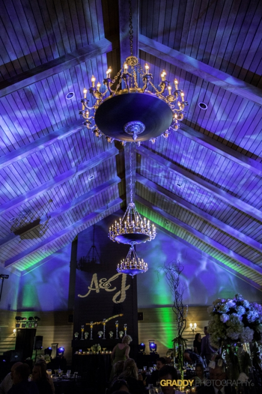 Wedding Uplighting at Dellwood Hills 10