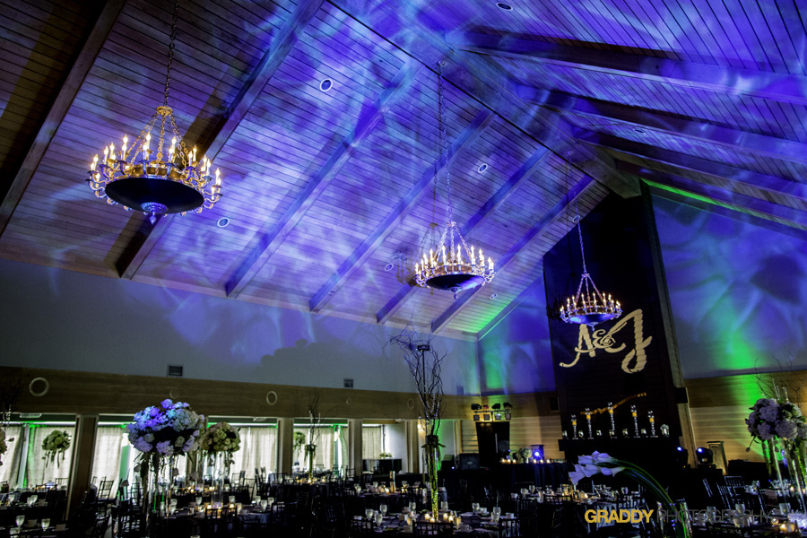 Wedding Uplighting at Dellwood Hills 13