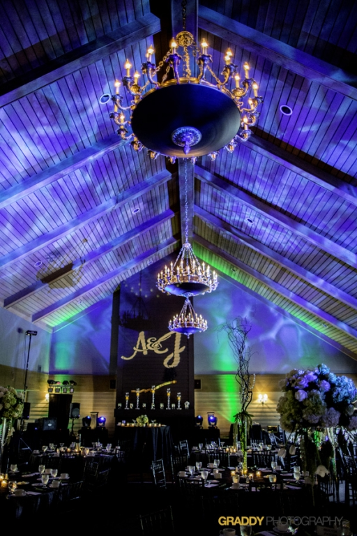 Wedding Uplighting at Dellwood Hills 14