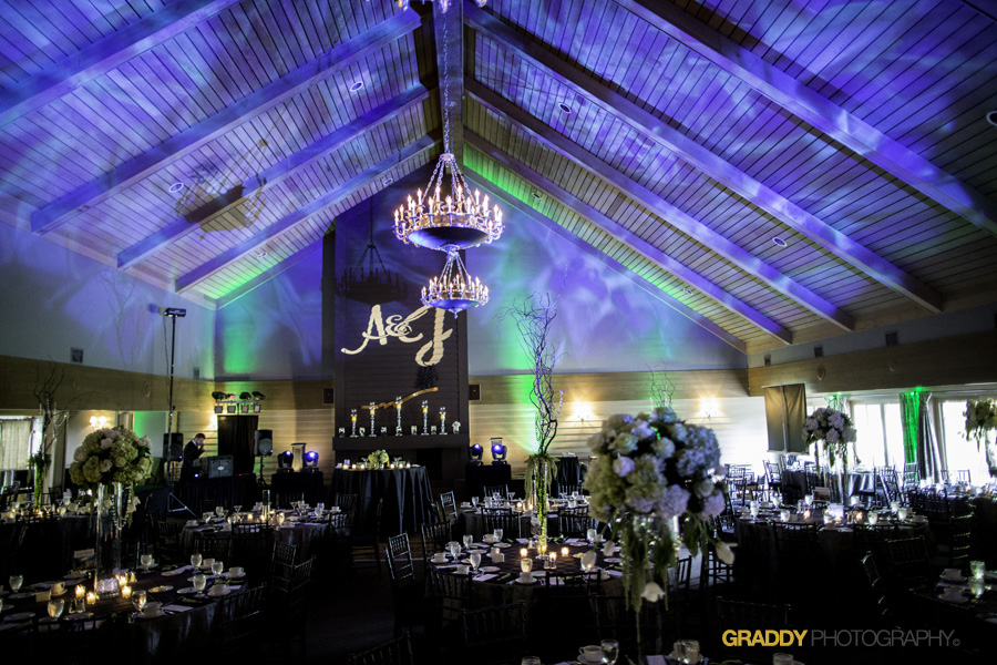 Wedding Uplighting at Dellwood Hills 16