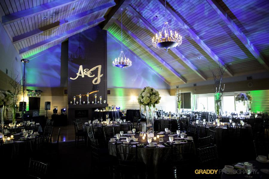Wedding Uplighting at Dellwood Hills 18
