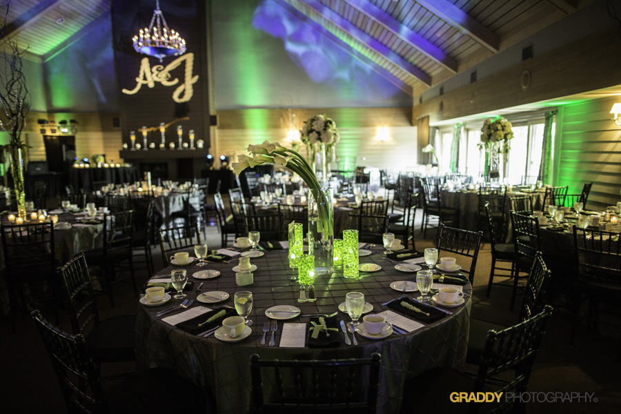 Wedding Uplighting at Dellwood Hills 31