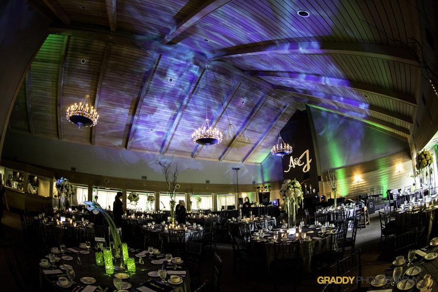Wedding Uplighting at Dellwood Hills 34