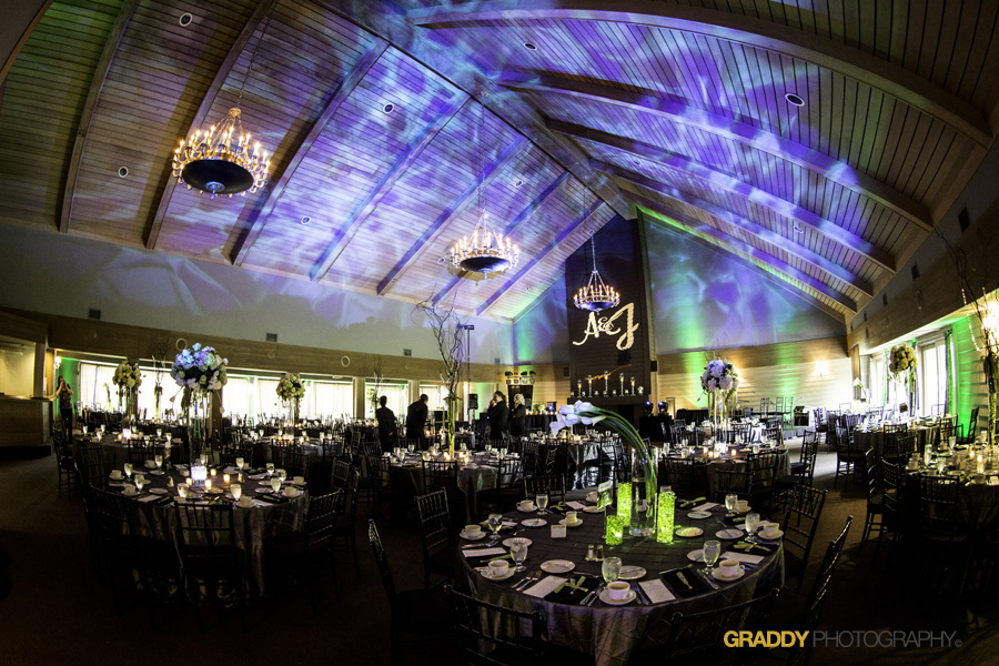 Wedding Uplighting at Dellwood Hills 35