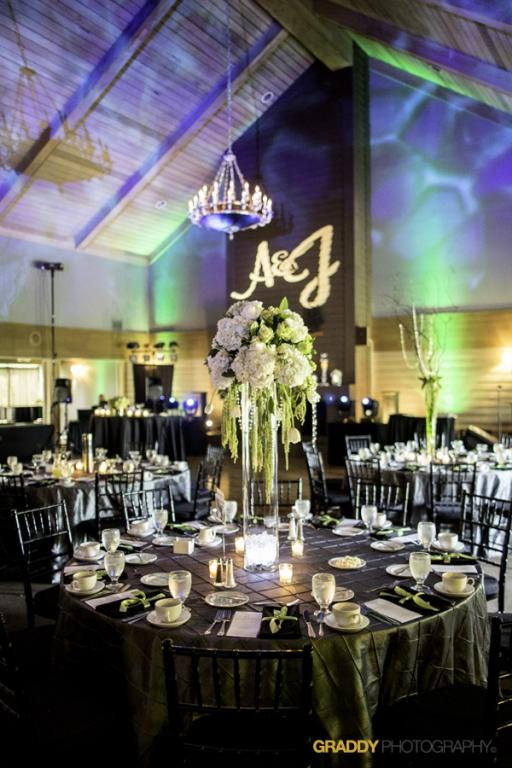 Wedding Uplighting at Dellwood Hills 4