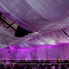 Wedding led uplighting at Depot Minneapolis