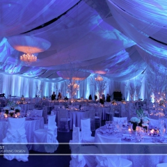 Winter wonderland wedding lighting