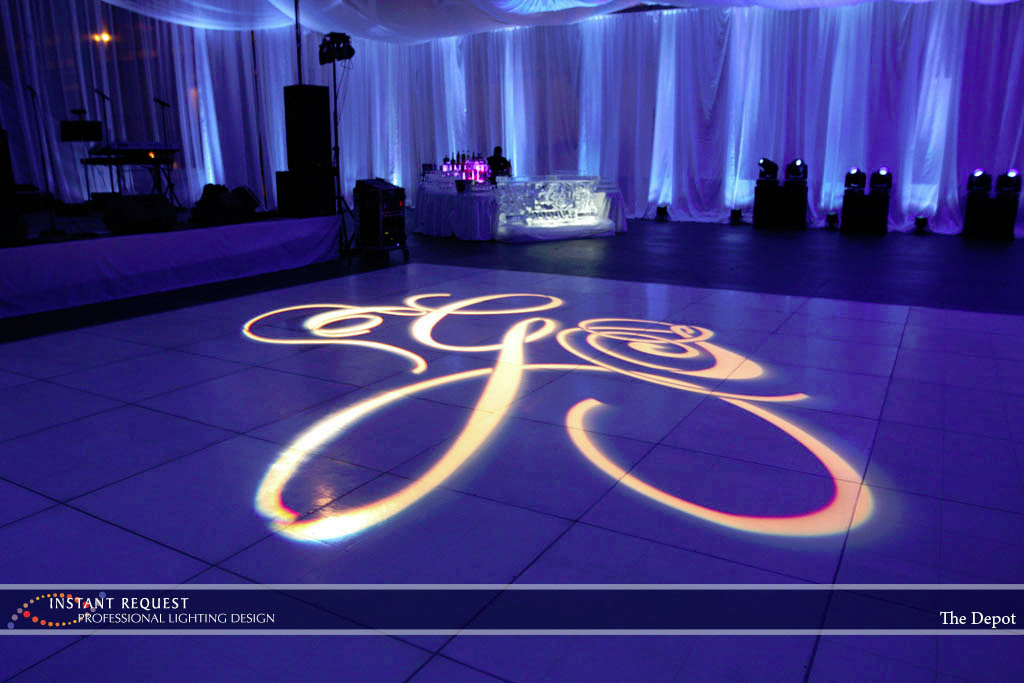Wedding led uplighting at Depot Minneapolis 1