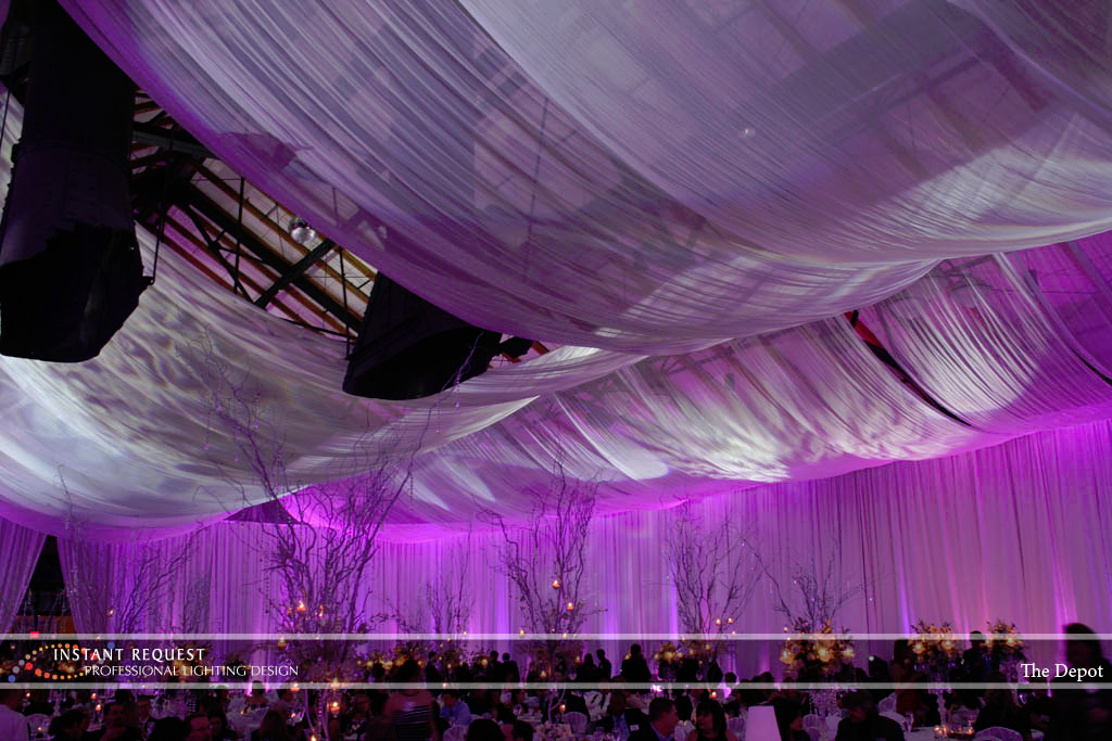 Wedding led uplighting at Depot Minneapolis 13