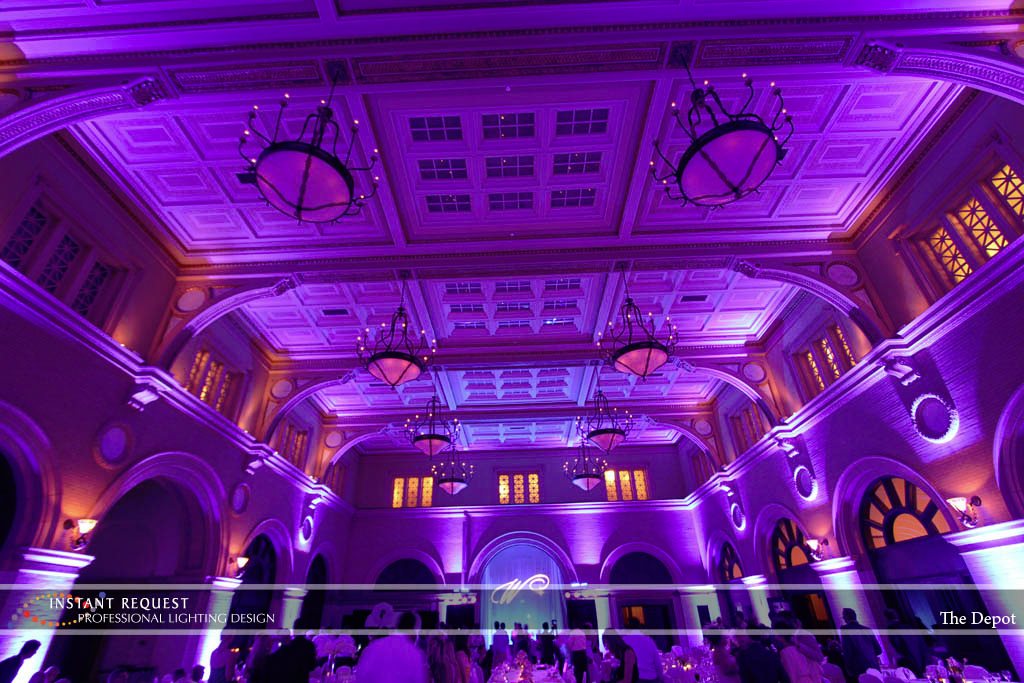 Wedding led uplighting at Depot Minneapolis 18