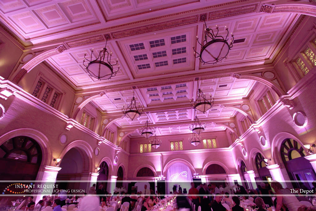 Wedding led uplighting at Depot Minneapolis 20