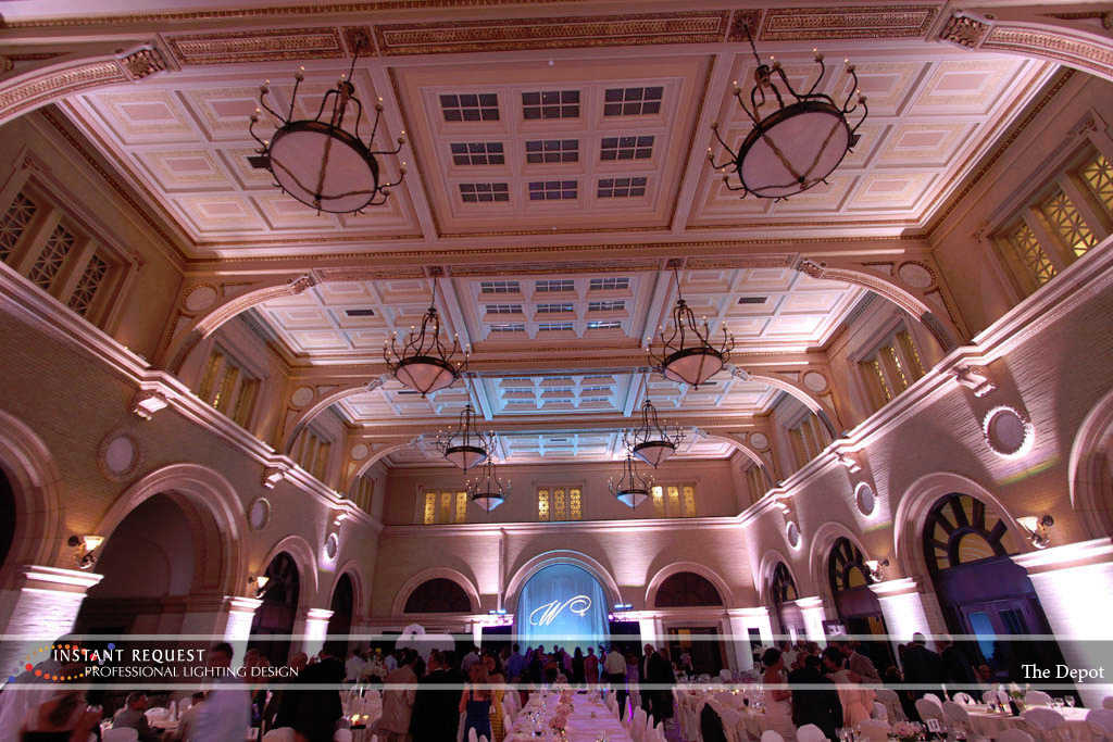 Wedding led uplighting at Depot Minneapolis 21