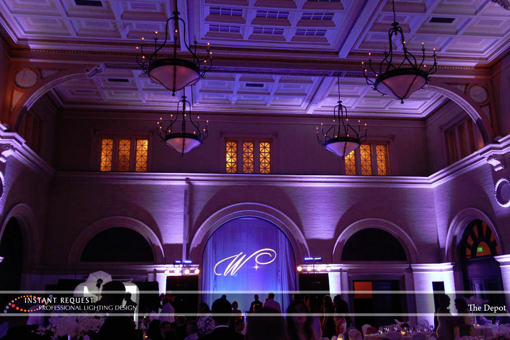 Wedding led uplighting at Depot Minneapolis 23