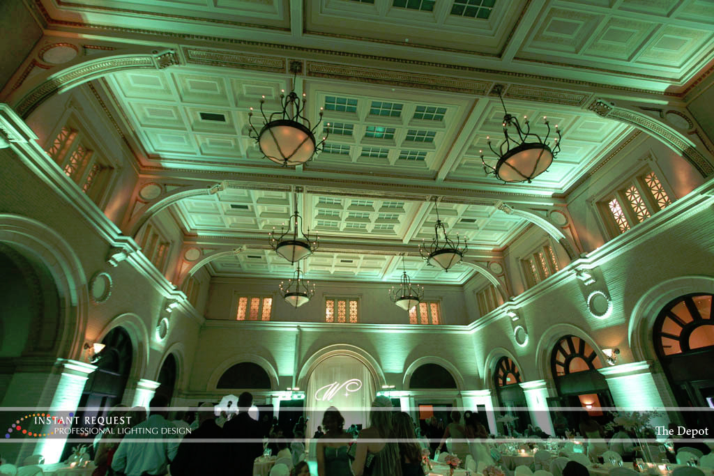Wedding led uplighting at Depot Minneapolis 24