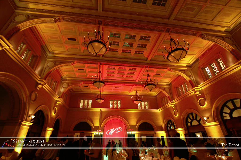 Wedding led uplighting at Depot Minneapolis 26