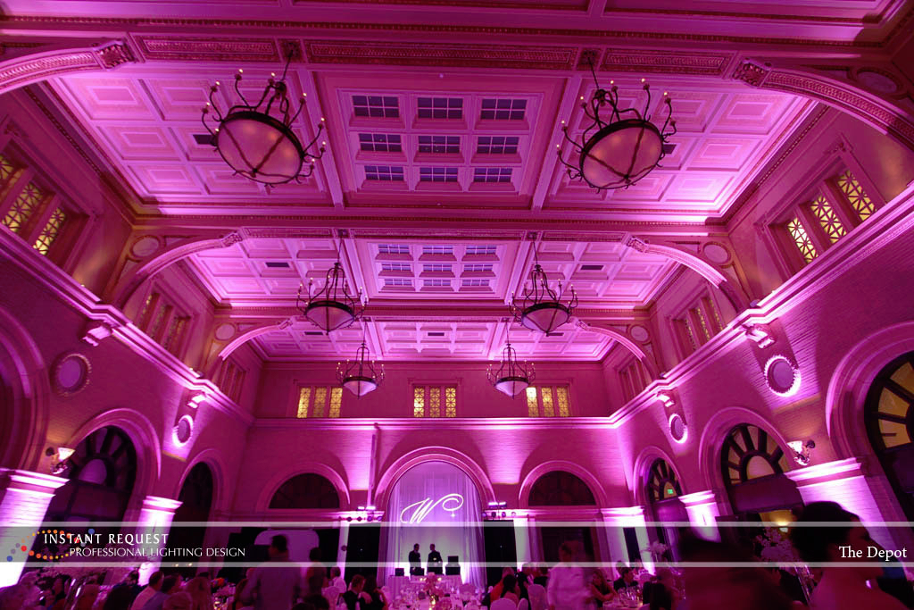 Wedding led uplighting at Depot Minneapolis 29