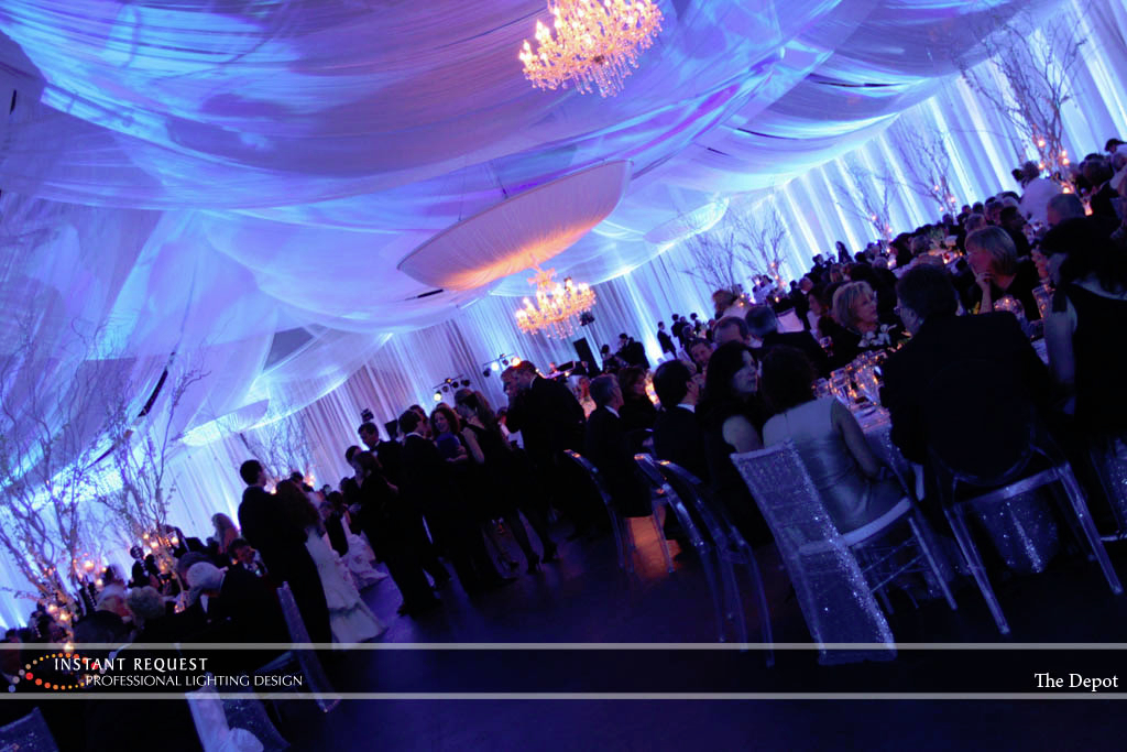 Wedding led uplighting at Depot Minneapolis 3