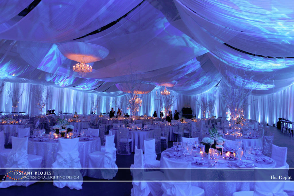 Wedding led uplighting at Depot Minneapolis 4