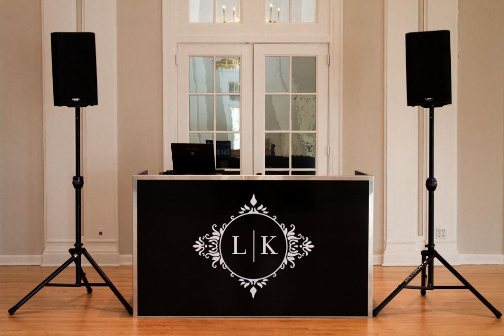 5 DJ Booth - Black Custom Monogram