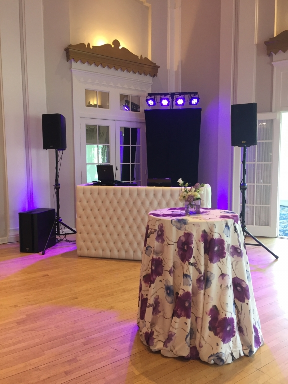 White tufted DJ booth 1