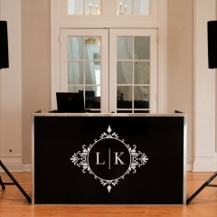 5 DJ Booth - Black Custom Monogram