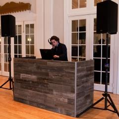3 DJ Booth - Grey Reclaimed Wood 2