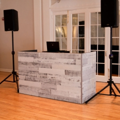 2 DJ Booth - White Reclaimed Wood 2