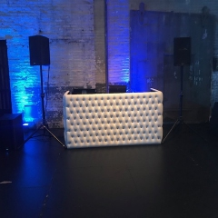 White tufted DJ booth aria 3