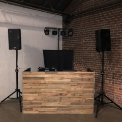 Stacked  Wood  DJ booth at Paikka