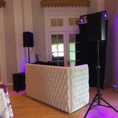 White tufted DJ booth 2