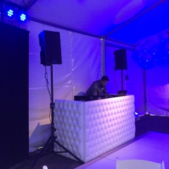 tent tufted white dj booth 1